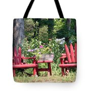 Sit For Awhile Tote Bag