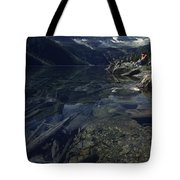 Sitting Along The Sheep River Tote Bag