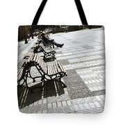 Sitting In The Park - Madrid Tote Bag