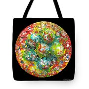 Six  Colorful  Eggs  On  A  Circle Tote Bag