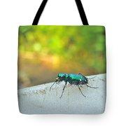 Six-spotted Tiger Beetle - Cicindela Sexguttata Tote Bag