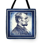 Sixteenth President Blue Tote Bag