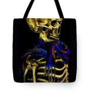 Skeleton Fashion Victim Tote Bag