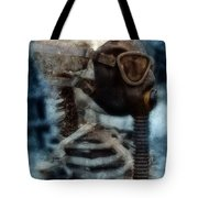 Skeleton In Gas Mask Tote Bag