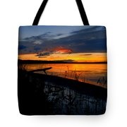 Skeloton Lake Sunset Hdr Tote Bag