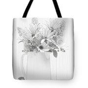 Sketched Vase Of Flowers Tote Bag