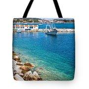 Skiathos Harbour Tote Bag