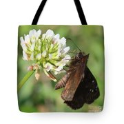 Skipper On Clover Square Tote Bag