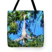 Puget Sound Great Blue Heron Skirt Wings Tote Bag