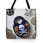 Skull And Cross Bones Lock Tote Bag