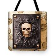 Skull Box With Skeleton Key Tote Bag
