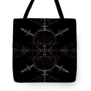 Skulls And Daggers Tote Bag