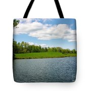 Sky And Water Almost Meet Tote Bag