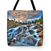 Sky Blue Falls Tote Bag