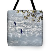 Sky Clouds And Geese Tote Bag