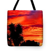 Morro Bay California Sky Fire Tote Bag