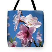 Sky High Cherry Blossoms Tote Bag
