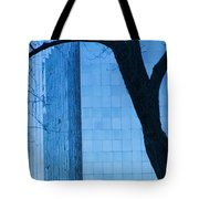 Sky Scraper Tall Building Abstract With Windows Tree And Reflections No.0066 Tote Bag