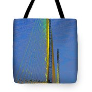 Skyway Crossing Tote Bag by David Lee Thompson
