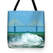 Skyway Splash Tote Bag by David Lee Thompson