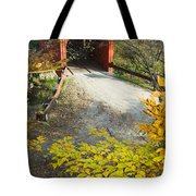 Slaughter House Bridge And Fall Colors Tote Bag