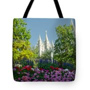 Slc Temple Flowers Tote Bag