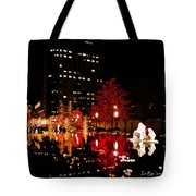 Slc Temple Nativity Pond Tote Bag