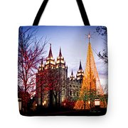 Slc Temple Tree Light Tote Bag