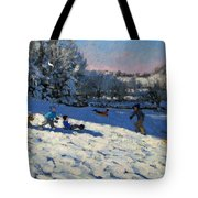 Sledging Near Youlgreave Tote Bag by Andrew Macara