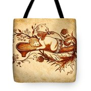 Sleeping Angel Original Coffee Painting Tote Bag