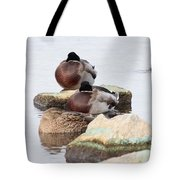 Sleeping Mallards Tote Bag