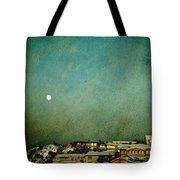 Sleepy Winter Town Tote Bag