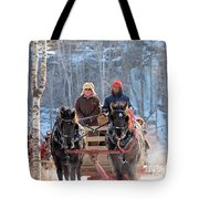 Sleigh Ride In The Frontenac Axis Tote Bag