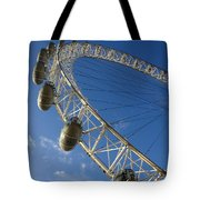 Slice Of The Wheel Of London Eye From An Angle Tote Bag