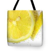 Sliced Lemon In Fizzy Water Tote Bag