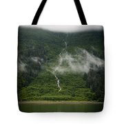 Slim Waterfall From The Haze Tote Bag