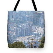 Sliven Bulgaria From Chair Lift Tote Bag