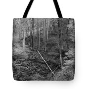 Slovenian Forest In Black And White Tote Bag
