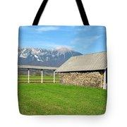 Slovenian Hayrack And Woodpile Tote Bag