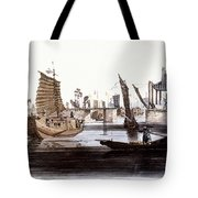 Sluice In China, 1800 Tote Bag