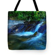 Small Blue Water Tote Bag