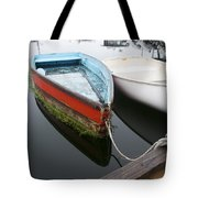 Small Boat In Harbor Tote Bag
