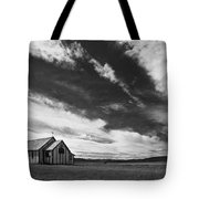 Small Country Church In Grass Field In Tote Bag