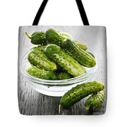 Small Cucumbers In Bowl Tote Bag by Elena Elisseeva