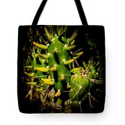 Small Green Cactus Tote Bag