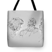 Small Talk  Over Coffee Tote Bag by Ylli Haruni