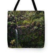 Small Waterfall - Hana Highway Tote Bag
