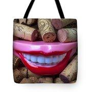 Smile Among Wine Corks Tote Bag