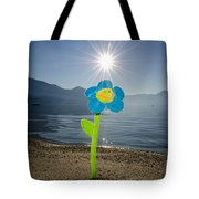 Smile Flower On The Beach Tote Bag