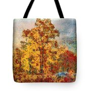 Smoke Tree In The Karst Tote Bag